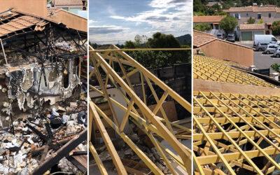 Rénovation totale de toiture après incendie